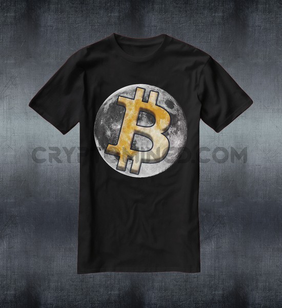 Bitcoin To The Moon Custom QR Code T-Shirt