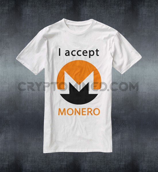 I Accept Monero Custom QR Code T-Shirt