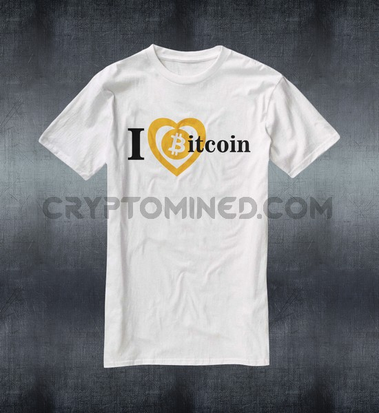 I Love Bitcoin Custom QR Code T-Shirt