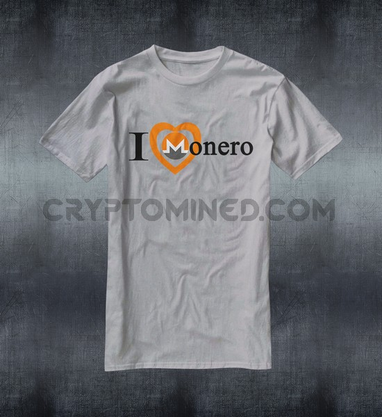 I Love Monero Custom QR Code T-Shirt