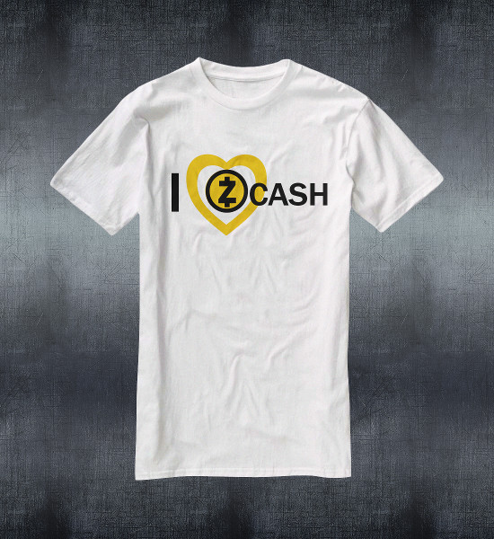 I Love ZCash Custom QR Code T-Shirt