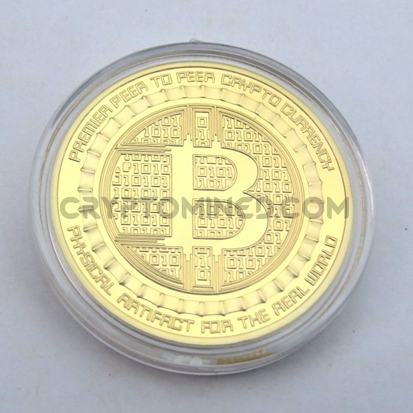 Novelty Gold Anonymous Bitcoin Physical Copper Coin