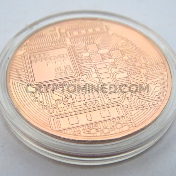 Novelty Copper Bitcoin