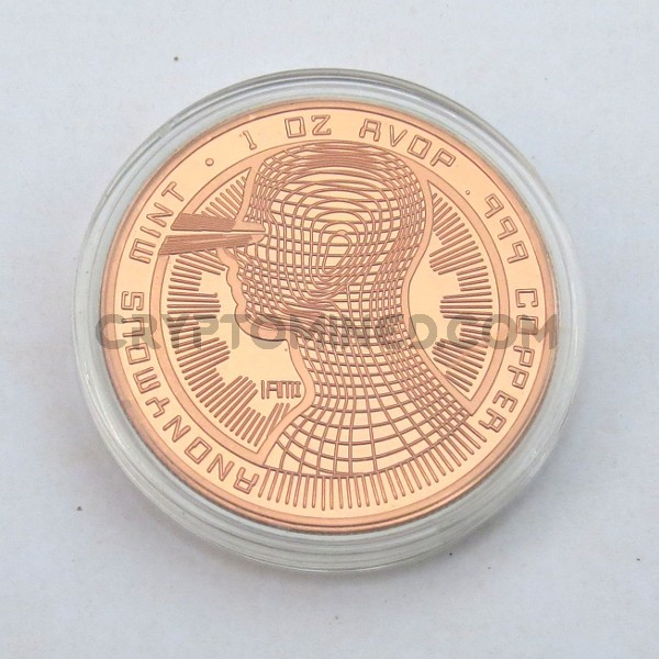 Novelty Copper IAMI Bitcoin Physical Copper Coin