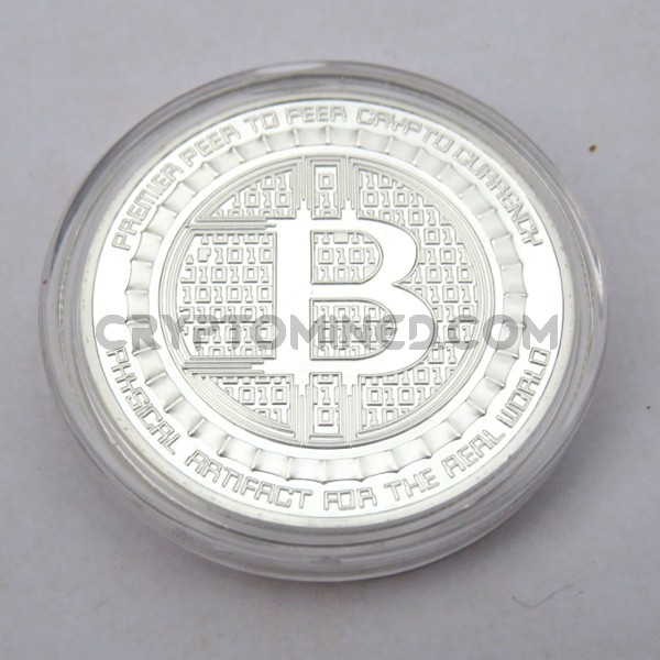 Novelty Silver IAMI Bitcoin Physical Copper Coin