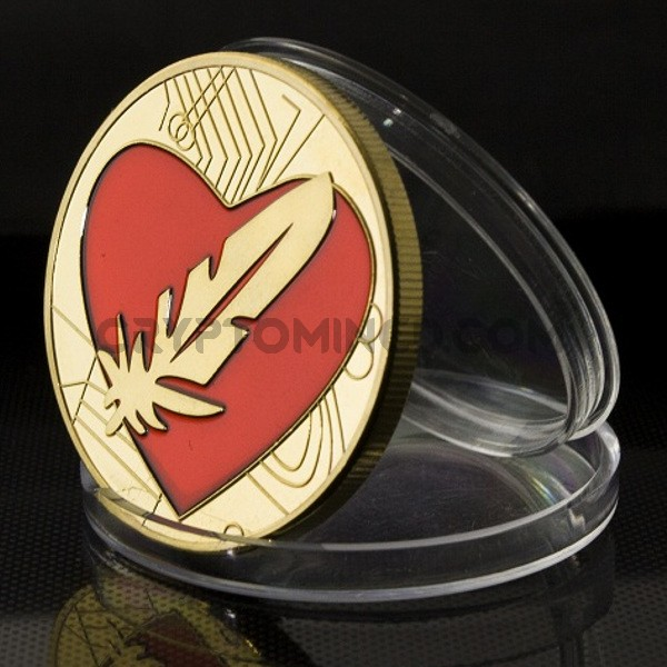 Novelty Gold Feathercoin