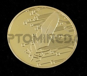 Novelty Gold Feathercoin Physical Copper Coin
