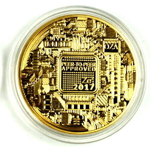 Novelty Gold Bitcoin Vires In Numeris Physical Coin