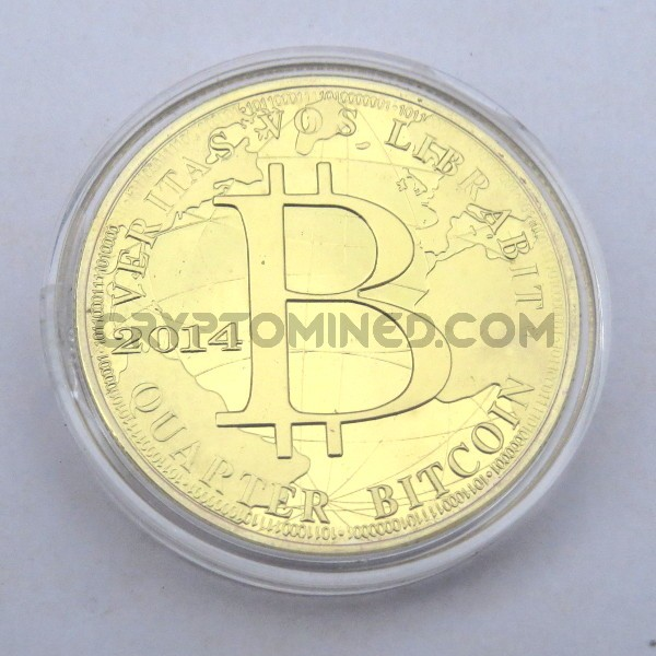 Novelty One Quarter Gold Bitcoin