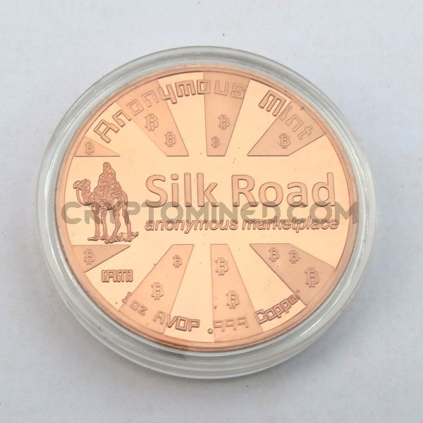 Novelty Copper Silk Road Bitcoin Physical Copper Coin