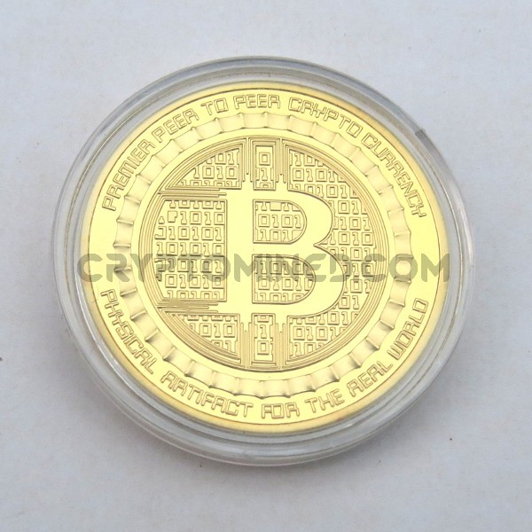 Novelty Gold Silk Road Bitcoin Physical Copper Coin