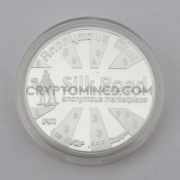 Novelty Silver Silk Road Bitcoin