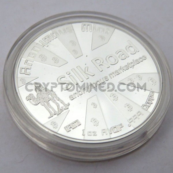 Novelty Silver Silk Road Bitcoin Physical Copper Coin