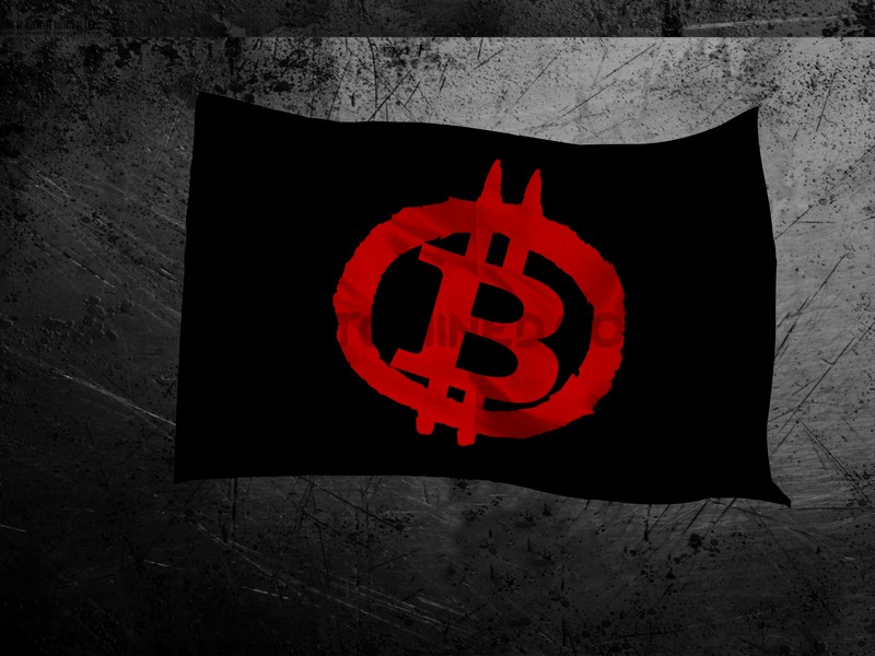 Bitcoin Anarchy Flag
