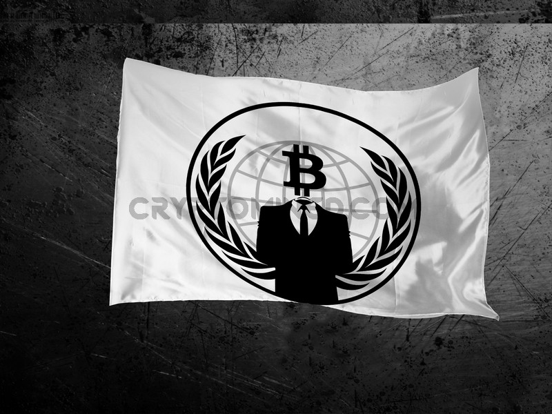Bitcoin Anonymous Flag