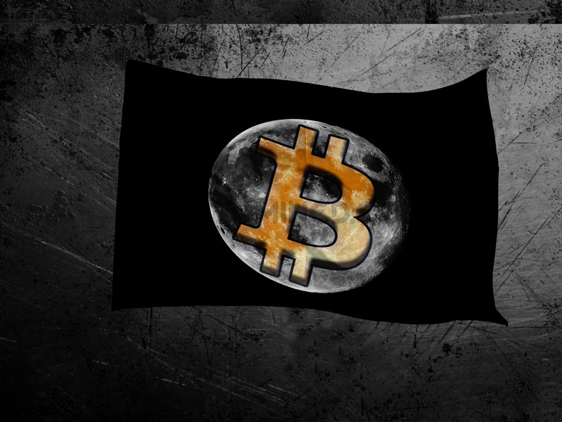 Bitcoin Moon Flag