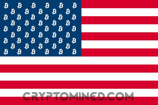 50 Bitcoin USA American Flag
