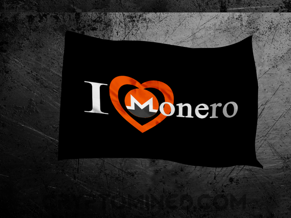 I Love Monero Flag