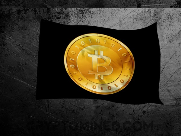 Bitcoin Gold Black Flag