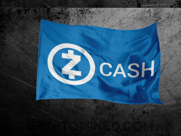 ZCash White Blue Flag