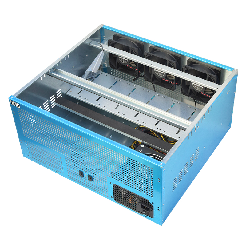 CryptoCube 6 to 8GPU Mining Rig Case