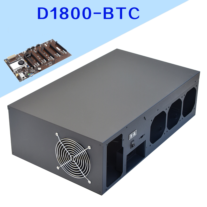 D1800 6GPU Black Mining Rig Case for Onda D1800 Motherboard