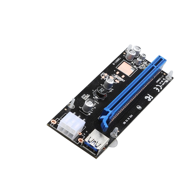 PCI-E 1X-16X USB3.0 Riser 6Pin with 6 Capacitors
