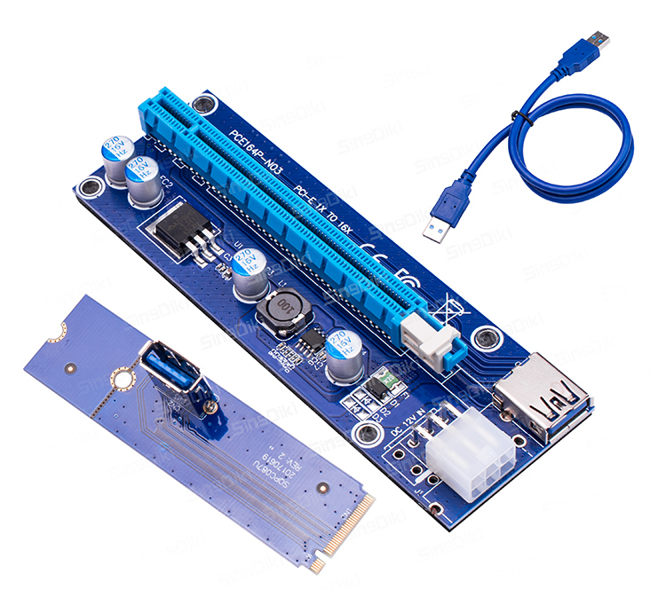 M.2 NGFF USB3.0 to PCI-E Riser 80mm 60mm 42mm V1