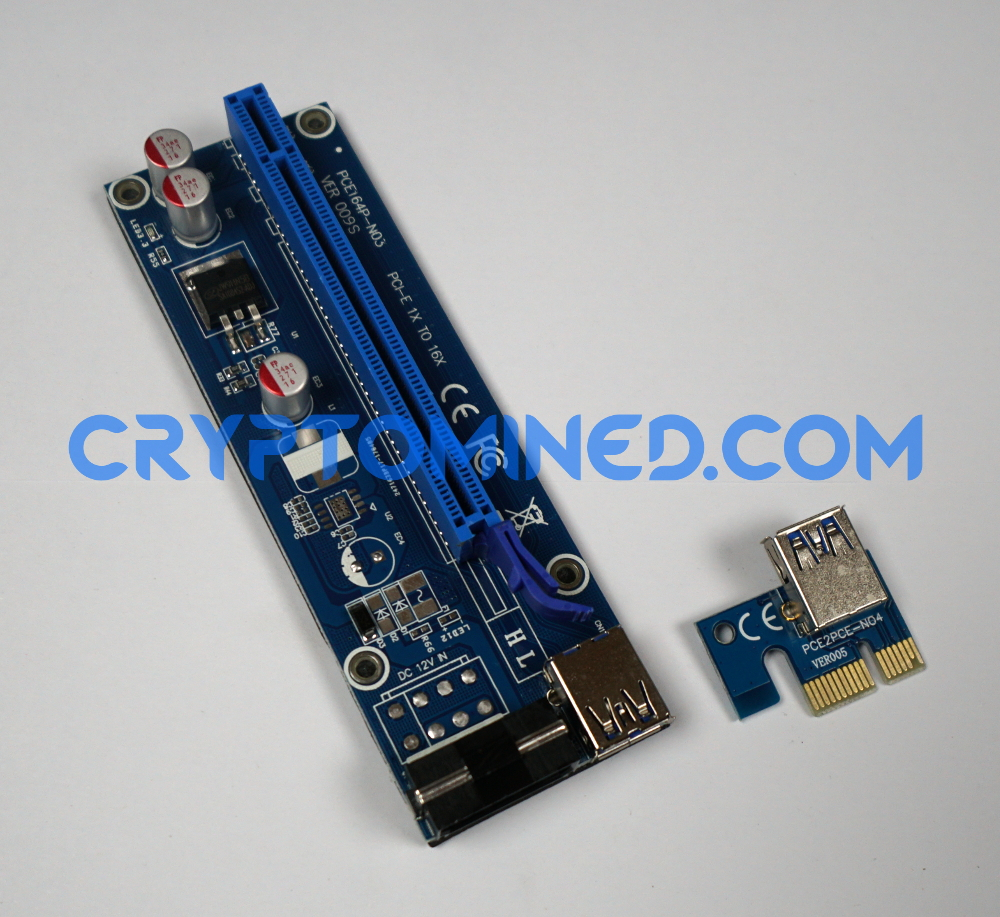 PCI-E 1X to 16X USB3.0 Riser Version.009 Molex