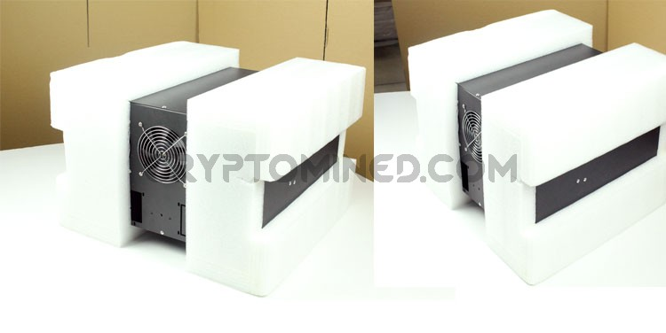 CryptoCube 6-GPU Mining Rig Case with 3 Fans