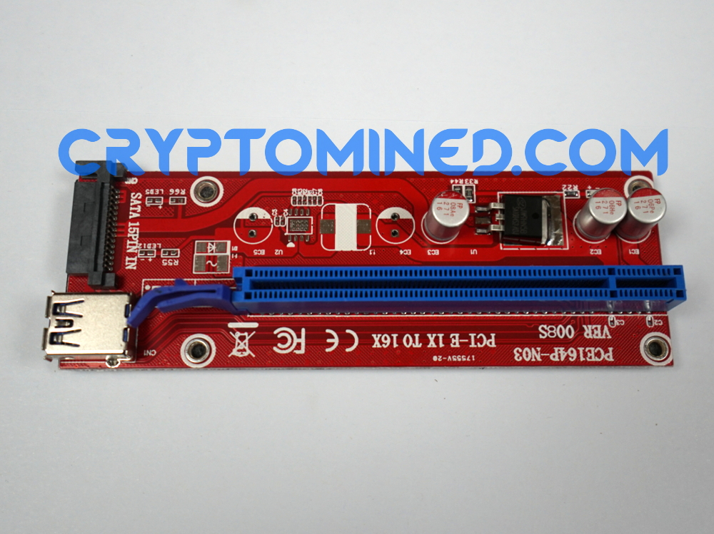 PCI-E 1X-16X USB3.0 Riser Version.008 Sata