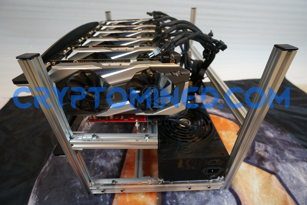 SilverBullet 6-GPU Mining Rig Stackable Aluminum Frame