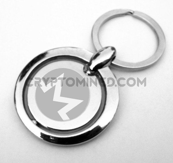 Monero Rotating Coin Custom QR Code Wallet Keychain