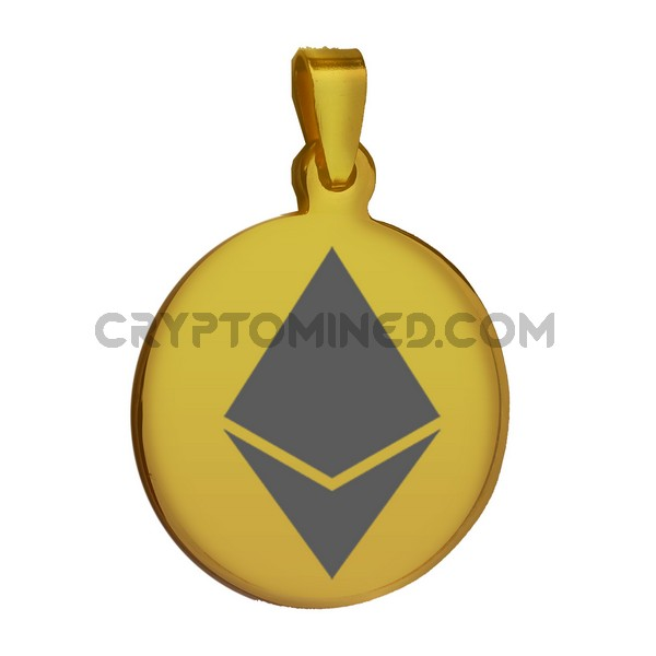 Ethereum Gold QR Wallet Pendant for Necklace