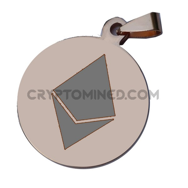 Ethereum Rose Gold QR Wallet Pendant for Necklace