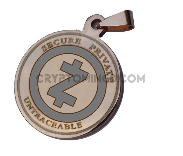 ZCash Rose Gold Coin QR Wallet Pendant for Necklace