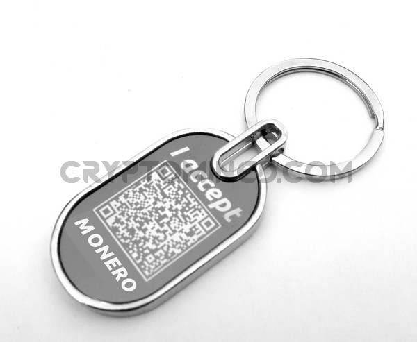 I Accept Monero Custom QR Code Wallet Keychain