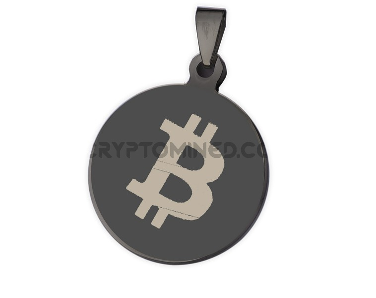 Bitcoin Black QR Wallet Pendant for Necklace