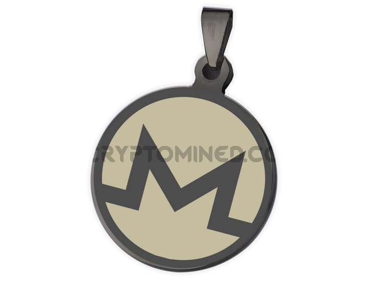 Monero Black QR Wallet Pendant for Necklace