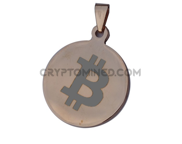 Bitcoin Rose Gold QR Wallet Pendant for Necklace