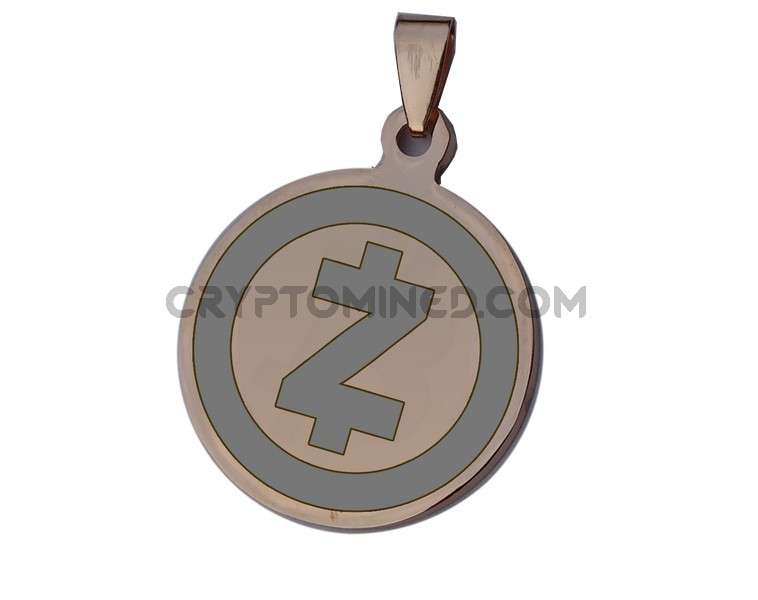 ZCash Rose Gold QR Wallet Pendant for Necklace