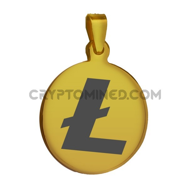 Litecoin Gold QR Wallet Pendant for Necklace