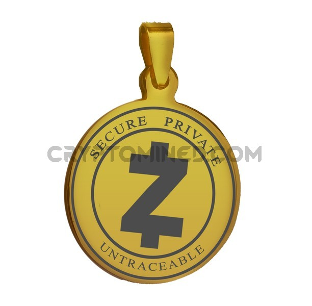 ZCash Gold Coin QR Wallet Pendant for Necklace